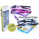 iPhone4/4S用アルミバンパーケース+イヤホンピアスのタッチペン付き